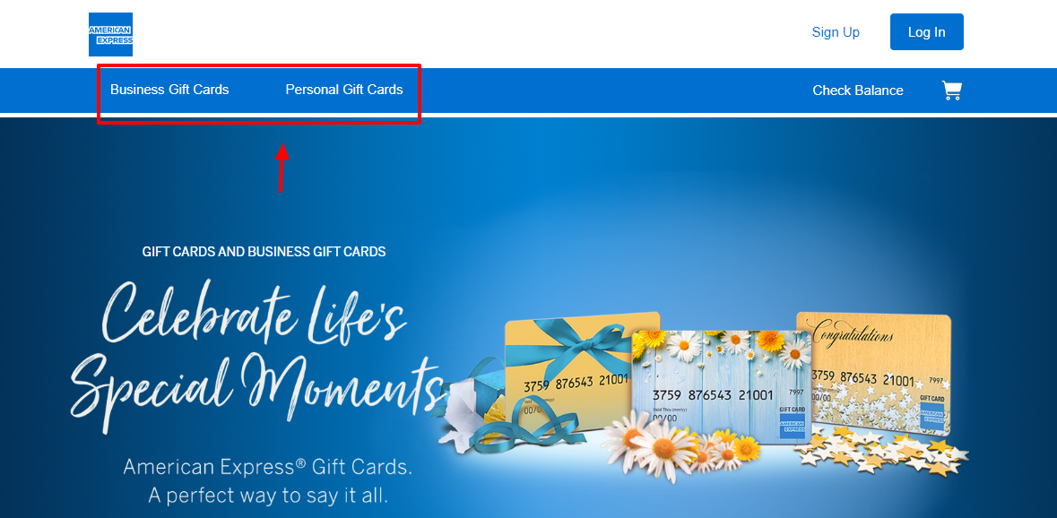 American Express Gift Card Shop