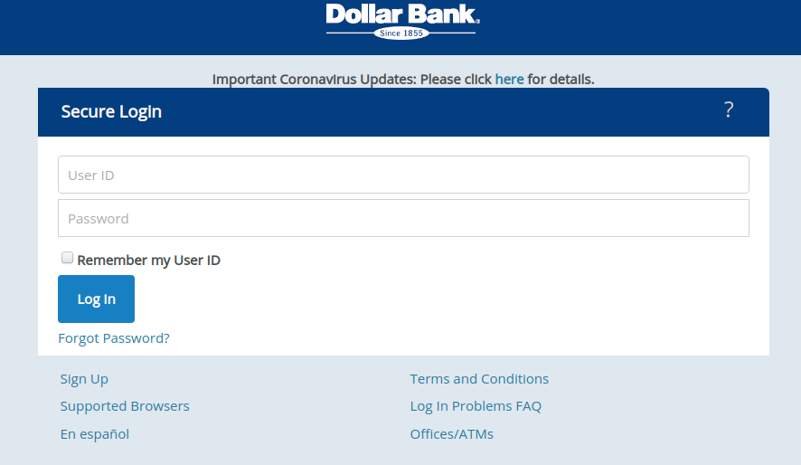 Dollar Bank Log In
