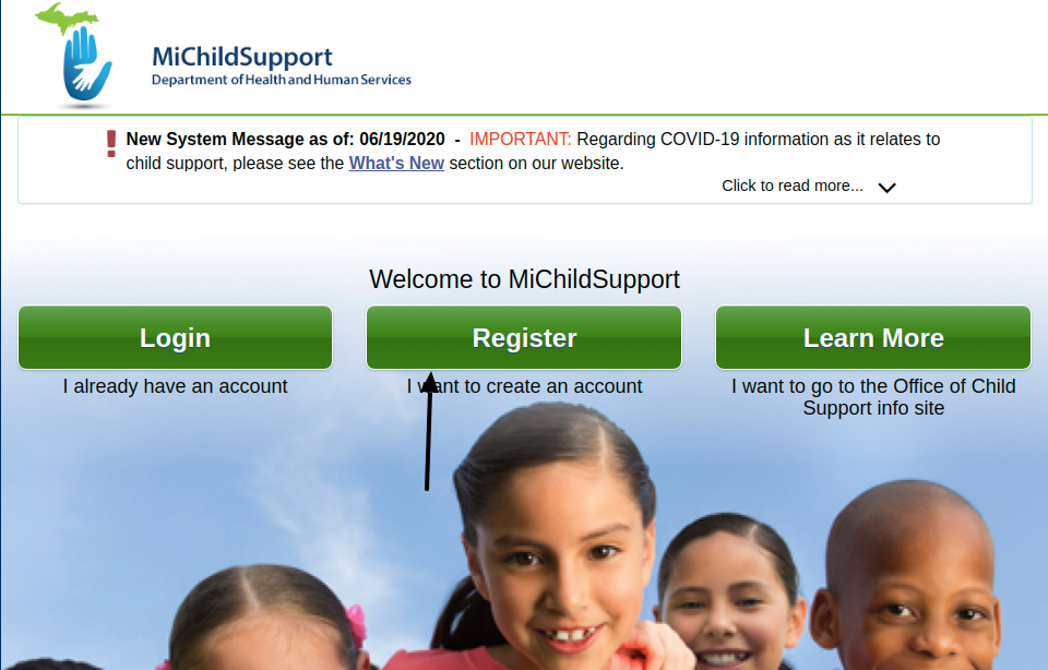 Michigan Child Support Register