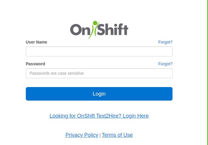 OnShift Login