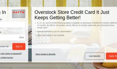 Overstock Credit Card Logo