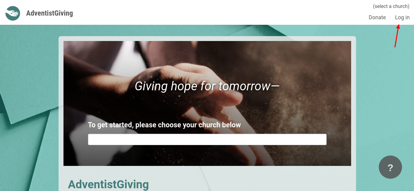 adventist giving login