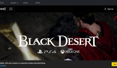 Black Desert Account login