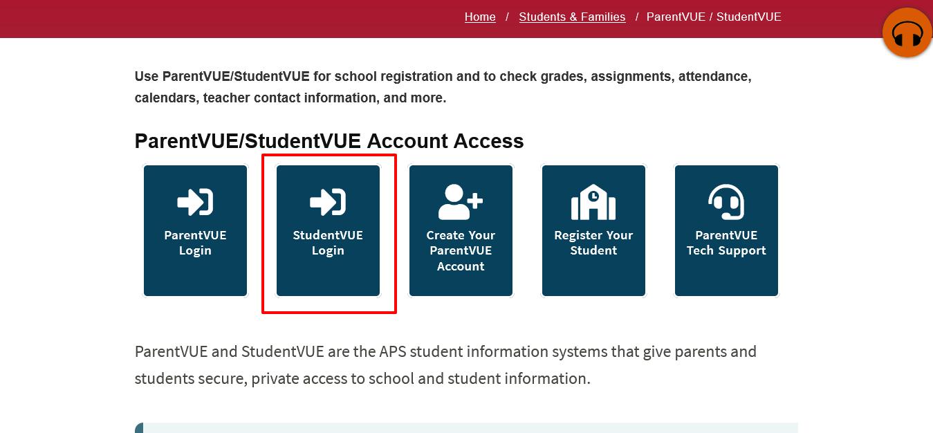 ParentVUE-StudentVUE login
